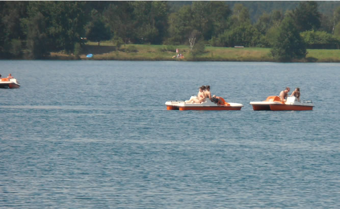Murner See und Brückelsee Teil des Oberpfälzer Seenland - viele Freizeitangebot nicht nur für Camper