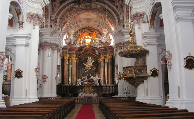 Asam Kirche Rohr - BenediktinierKloster mit schwebender Maria Öffnungszeiten
