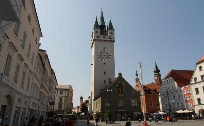 Fußgängerzone in Straubing